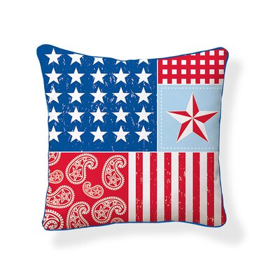 Americana Cotton Throw Pillow