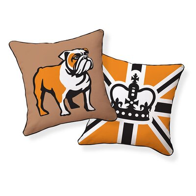 English Bulldog Cotton Throw Pillow