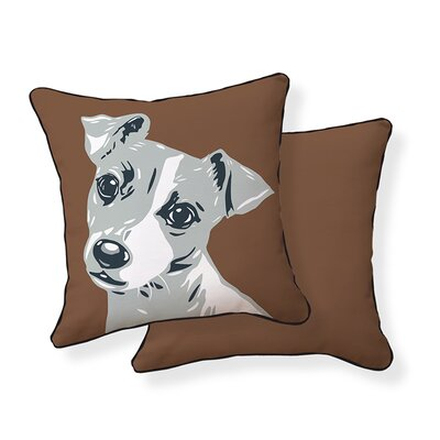 Jack Russell Cotton Throw Pillow