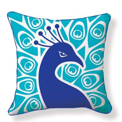 Peacock Cotton Throw Pillow