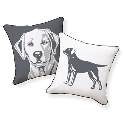 Labrador Retriever Cotton Throw Pillow