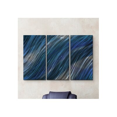 'Cool Current IV' by Ash Carl 3 Piece Graphic Art Plaque Set ABS00350
