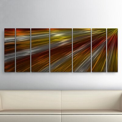 'Warm Rays Of Light' by Ash Carl 7 Piece Graphic Art Plaque Set ABS00182