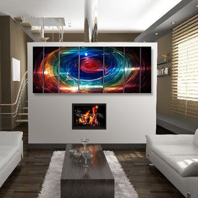 Abstract by Ash Carl Metal Wall Art in Multi - 23.5