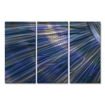 Sunshine IV by Ash Carl 3 Piece Graphic Art Plaque Set Color: Blue ABS00345