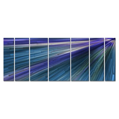 'In The Blue Light' by Ash Carl 7 Piece Graphic Art Plaque Set ABS00293