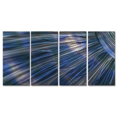 Sunshine III 4 Piece Graphic Art Plaque Set Color: Blue ABS00325