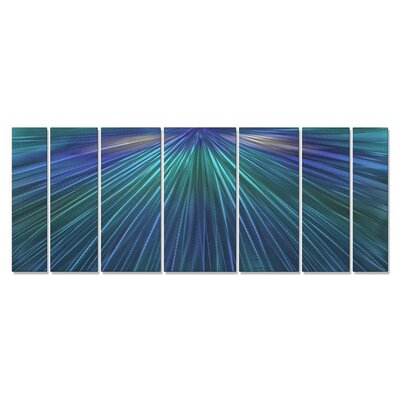 'Shine The Blue Light' by Ash Carl 7 Piece Graphic Art Plaque Set ABS00303