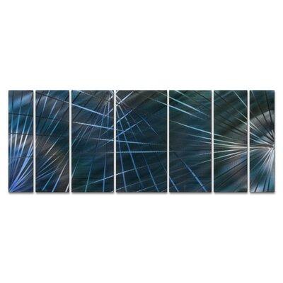 Network Metal 7 Piece Graphic Art Plaque Set Color: Blue ABS00298