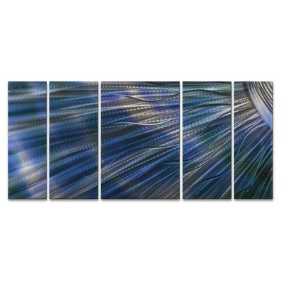 Sunshine II by Ash Carl 5 Piece Graphic Art Plaque Set Color: Blue ABS00307