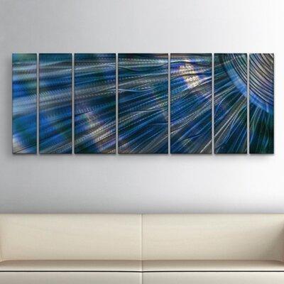 Sunshine 7 Piece Graphic Art Plaque Set Color: Blue ABS00287
