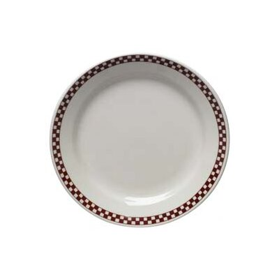 Diner Check 9 Luncheon Plate In Scarlet (set Of 4)
