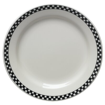 Diner Check 9 Luncheon Plate In Black (set Of 4)