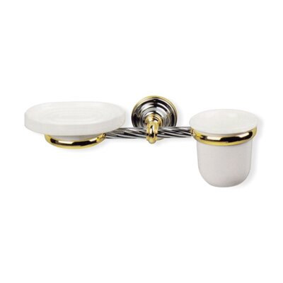 Giunone Wall Mounted Classic Soap Dish and Toothbrush Holder Finish: Chrome