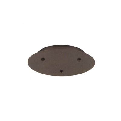 12V Fusion Jack Three Port Round Canopy in Satin Nickel
