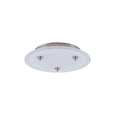 24V Fusion Jack Three Port Round Canopy in Satin Nickel