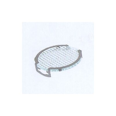 Lens Single Clip Grid Diffuser in Silver