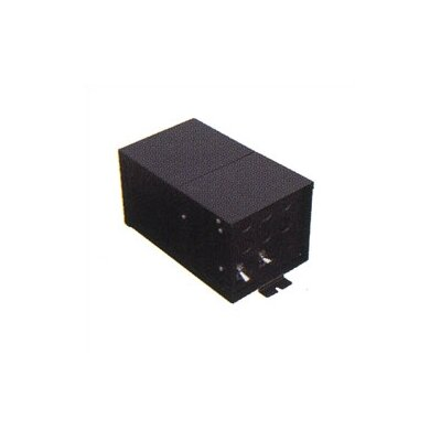 Fusion Monorail 600W Remote Magnetic Transformer with Black Metal Housing - Multiple Voltage Options Input Volt/Input Current/Output Wattage/Type: 1x277 VAC/2.2A/2x300W/12V