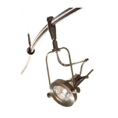 Apex 1-Light Swivel Track Head Finish: Bronze, Stem Length: 1 Straight, Mounting Type: Monorail Track Head