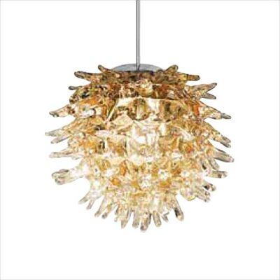 Ooni 1-Light Mini Pendant Color: Amber, Finish: Polished Chrome, Mounting Type: Monorail Track Pendant