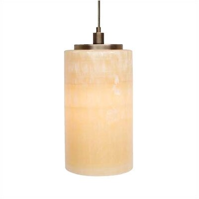 Onyx 1-Light Pendant Mounting Type: Fusion Jack, Finish: Satin Nickel, Size: 8 x 3.9