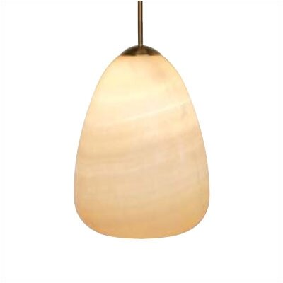 Onyx 1-Light Pendant Mounting Type: Fusion Jack, Finish: Bronze