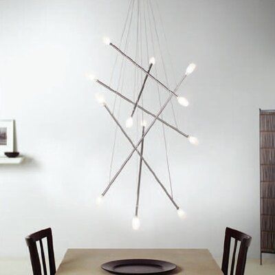 Batons 12-Light Shaded Chandelier