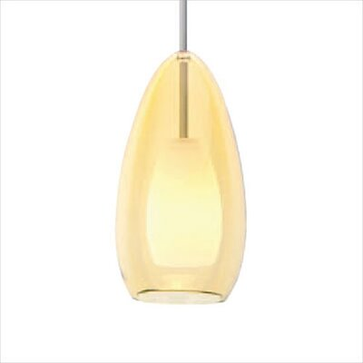 Tear-SI Coax 1-Light Mini Pendant Color: Amber, Finish: Satin Nickel, Mounting Type: Pendant with Canopy/Transformer