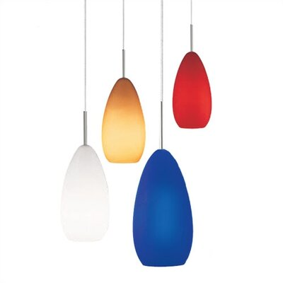 Callimont 1-Light Mini Pendant Finish: Satin Nickel, Shade Color: Blue, Compatible Mounting Type: Mini Pendant