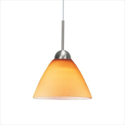 Dome SII Coax One LED Pendant Light in Satin Nickel Shade Color: Amber, Mounting Type: Fusion Jack
