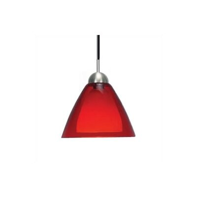 Dome 1-Light Suspension Mini Pendant Shade Color: Red