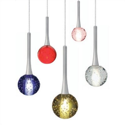 Mini Crystal Ball 1-Light Mini Pendant Finish: Satin Nickel, Shade Color: Clear, Mounting Type: Pendant