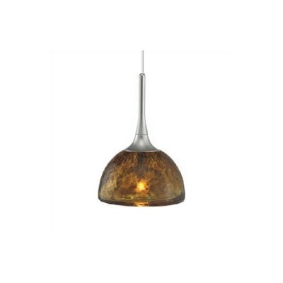 Dressler 1-Light Mini Pendant Finish: Satin Nickel, Shade Color: Amber, Mounting Type: Canopy/Transformer Mini Pendant