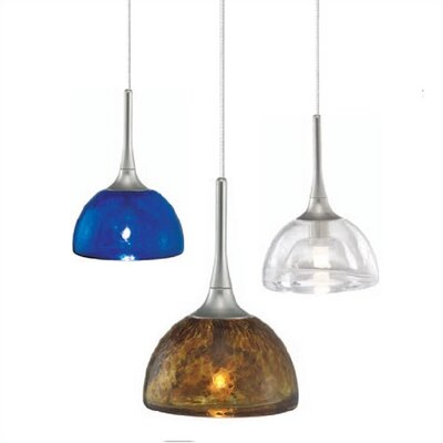 Sophia 1-Light Mini Pendant Finish: Bronze, Shade Color: Clear, Mounting Type: Canopy/Transformer Mini Pendant
