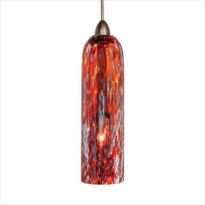 Mini Stogie 1-Light Mini Pendant Finish: Bronze, Shade Color: Red, Mounting Type: Pendant with Canopy/Transformer