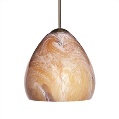 Mango Nuage 1-Light Mini Pendant Color: Mocha, Finish: Bronze, Mounting Type: Monorail Track Pendant