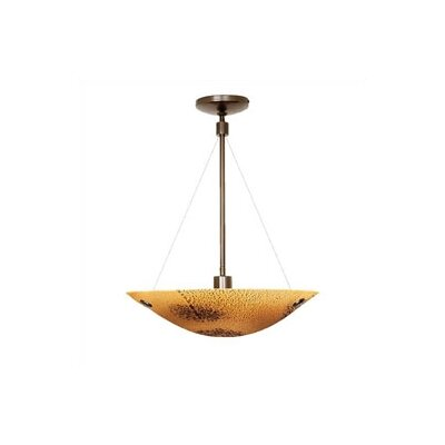 Veneto 1-Light Bowl Pendant Shade Color: Amber