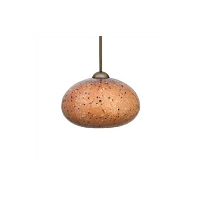 Broadlands 1-Light Mini Pendant Color: Mocha, Finish: Bronze, Mounting Type: Monopoint (canopy included)