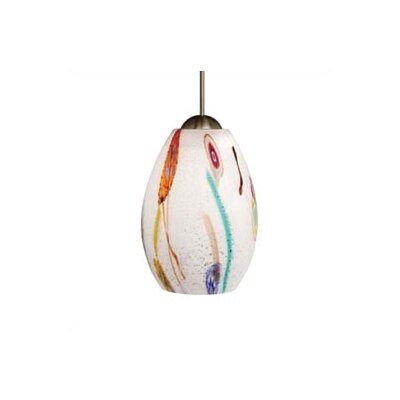 Younker 1-Light Pendant Shade Color: Opal, Mounting Type: Fusion Jack, Finish: Satin nickel