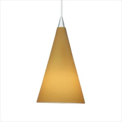 Cone III 1-Light Mini Pendant Color: Amber, Mounting Type: Monopoint (canopy included)