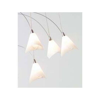 Teardrop Twilight 20-Light Waterfall Chandelier Cover: Flite Paper, Length: 60 Overall