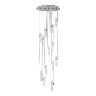 Tube 13-Light Cascade Pendant Finish: Satin Nickel