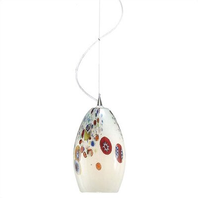 Monty Mouth Blown Murano 1-Light Pendant Color: Opal, Finish: Polished Chrome