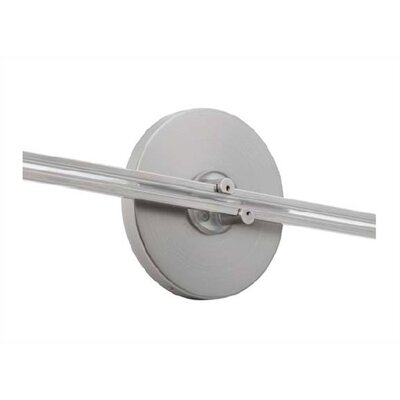 4 Round Direct Feed Canopy for Fusion Wall Monorail Finish: Satin Nickel