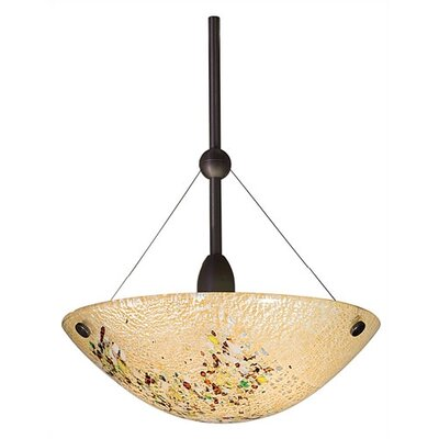 Mini Veneto 1-Light Mini Inverted Pendant Color: Amber, Finish: Satin Nickel, Mounting: Monopoint (canopy included)