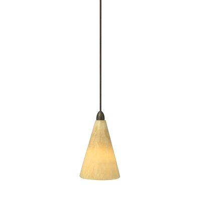 Onyx 1-Light Mini Pendant Finish: Satin Nickel, Mounting Type: Fusion Jack Mini Pendant