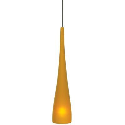 1-Light Mini Pendant Finish: Bronze, Shade Color: Amber, Mounting Type: Fusion Jack Mini Pendant