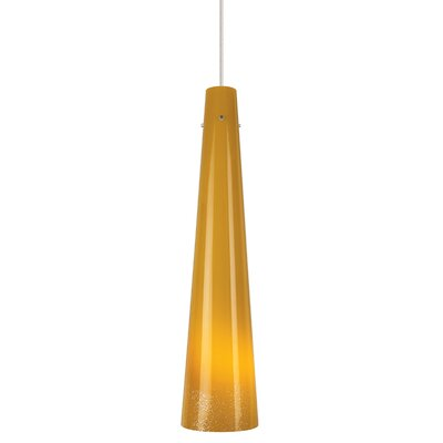 Pavia 1-Light Mini Pendant Shade Color: Opal, Finish: Bronze, Bulb Type: A19 E26