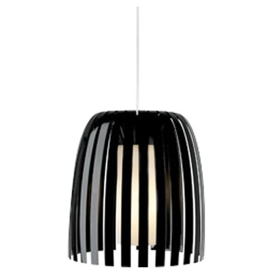 Olivia 1-Light Mini Pendant Shade Color: Black, Bulb Type: Incandescent