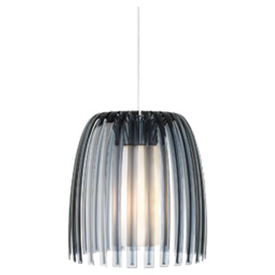 Olivia 1-Light Mini Pendant Shade Color: Smoke, Bulb Type: Fluorescent